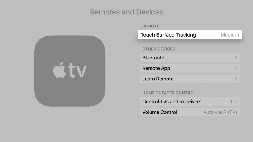 Siri Remote touch tracking
