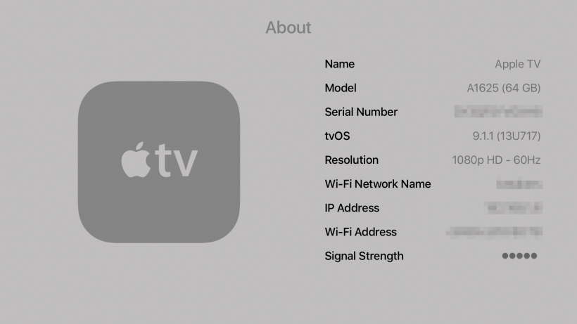 Get Apple TV IP address