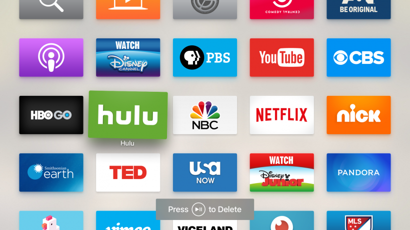 move Hulu app icon Apple tvOS
