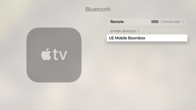 Pair Bluetooth device with Apple TV