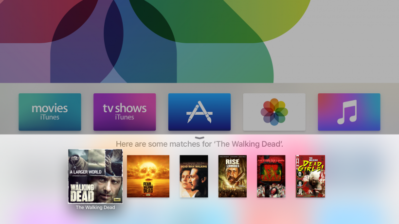 Siri universal search Apple TV