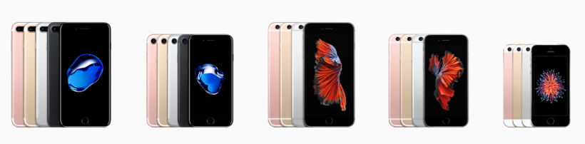 2016 iPhone Lineup