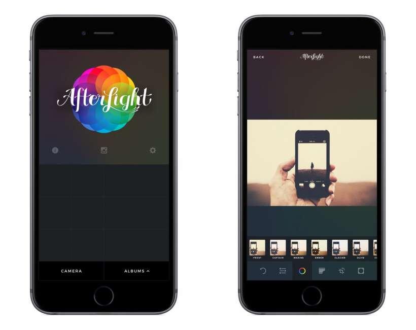 Afterlight iOS app iPhone