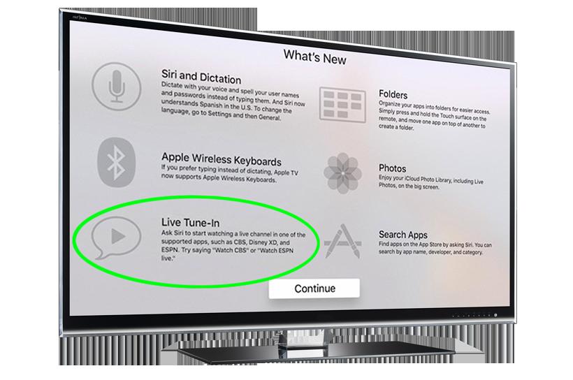 Apple TV Live Tune-In LG