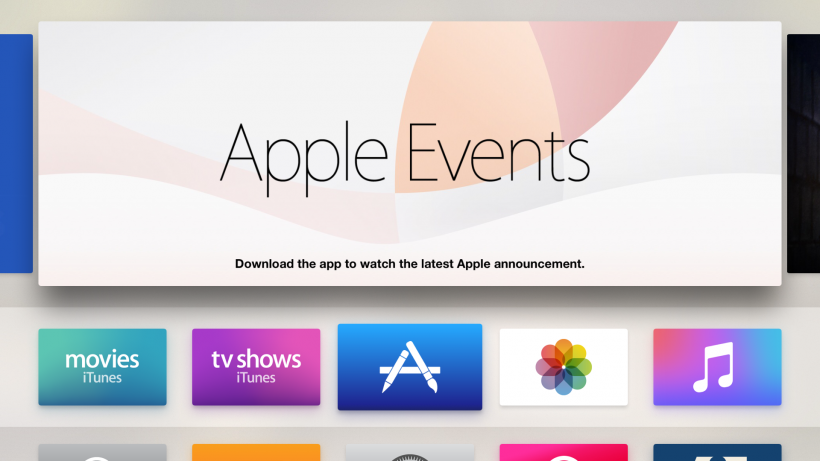 tvOS app Apple Events live stream