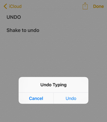 How to undo typing