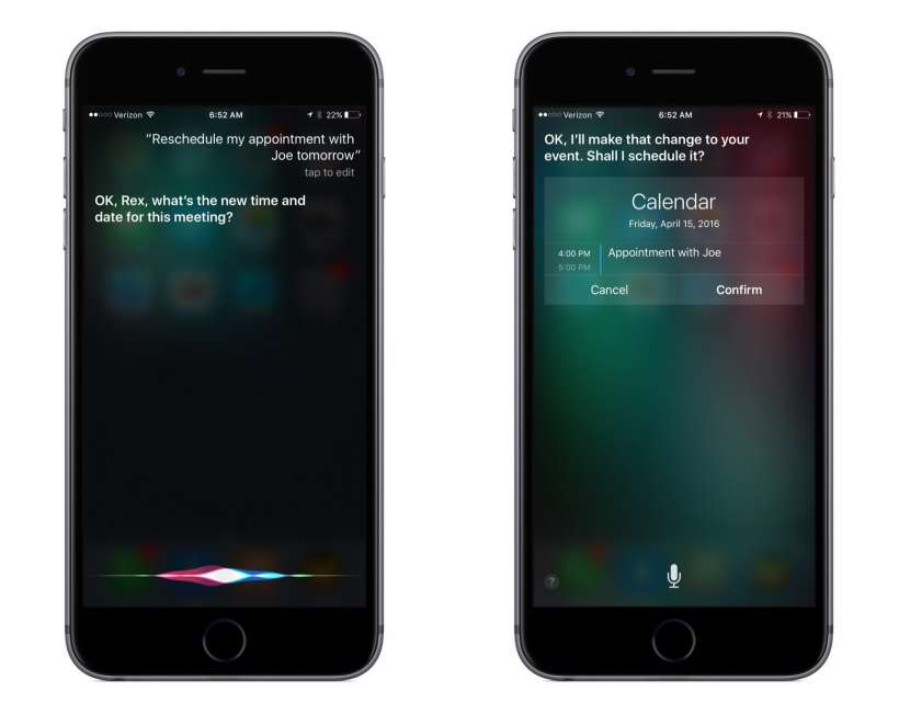 How to update a calendar event with Siri