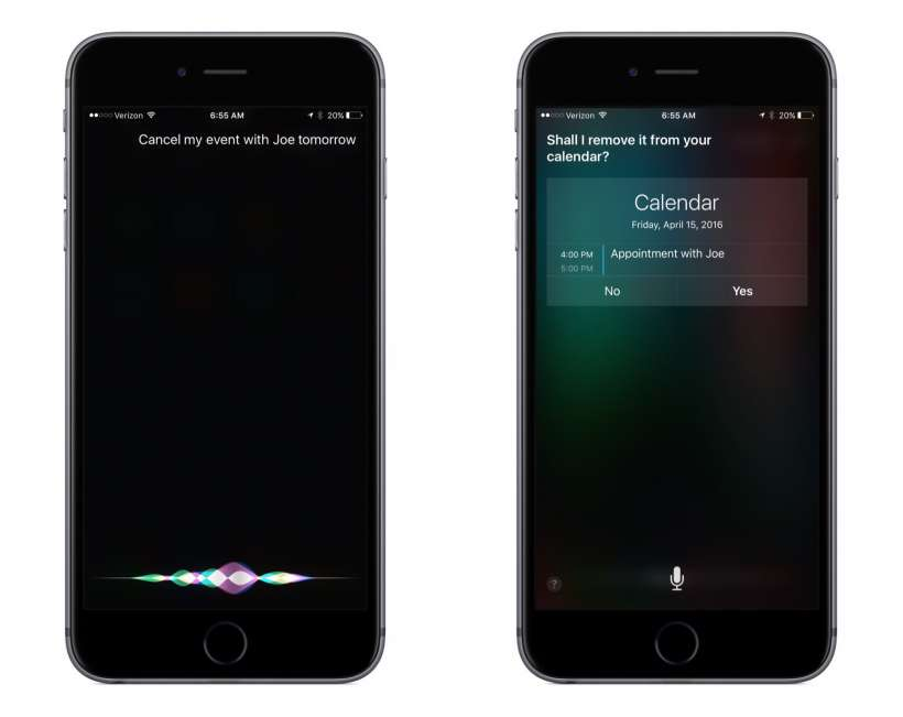 How to cancel a calendar event with Siri