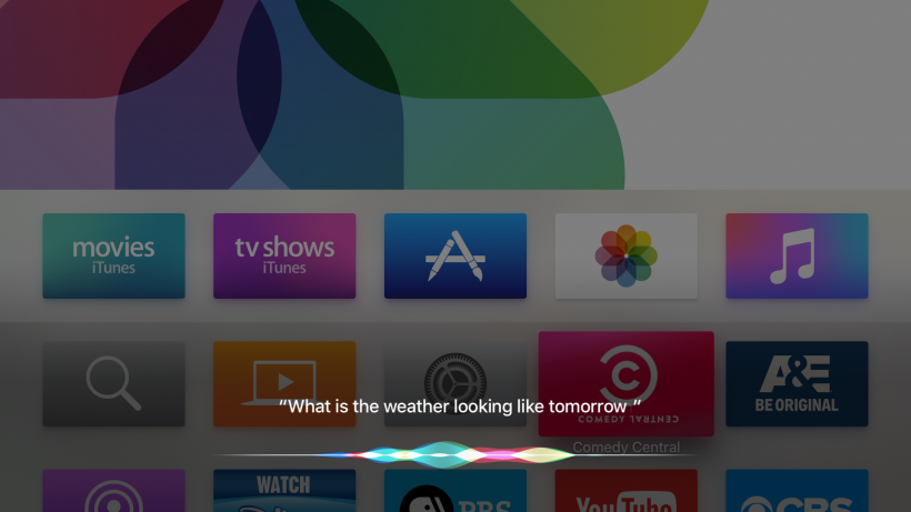 Apple TV screenshot Siri