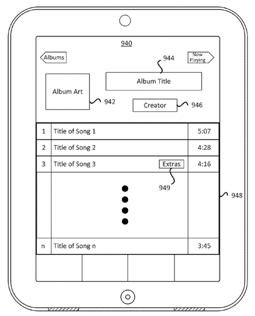 apple patent mixtape interface