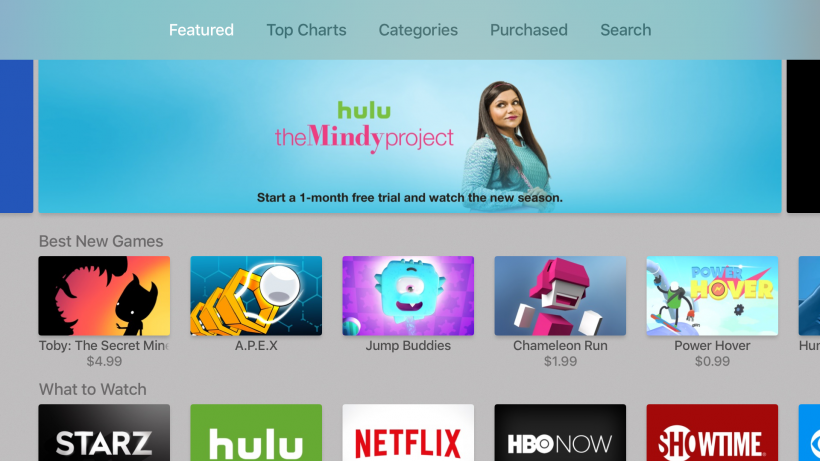 Apple TV App Store Featured