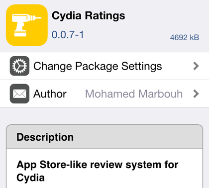 Install Cydia Ratings
