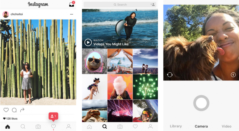 Instagram 8.0 flat redesigned interface