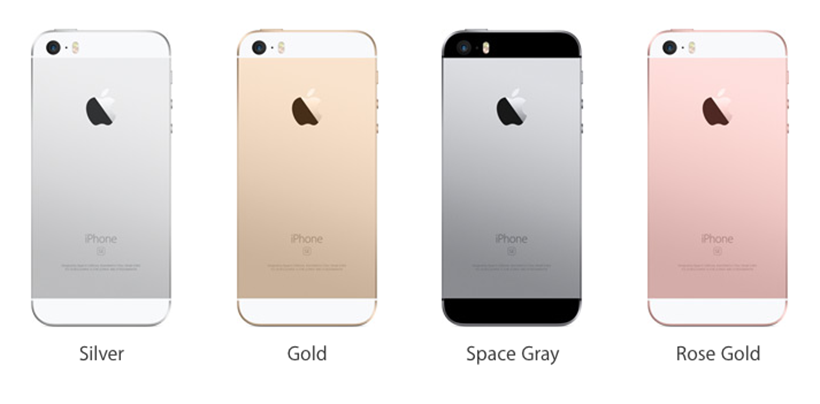 iPhone SE available colors