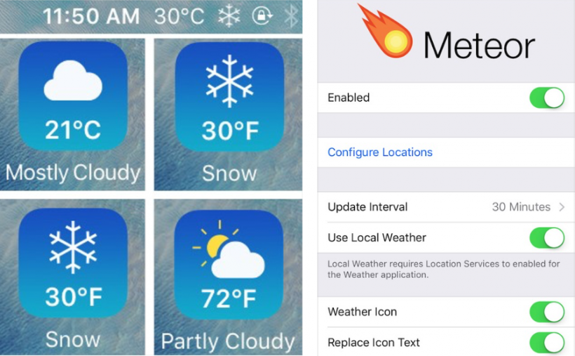 Meteor live weather iOS