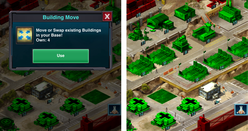 Building Move item Mobile Strike