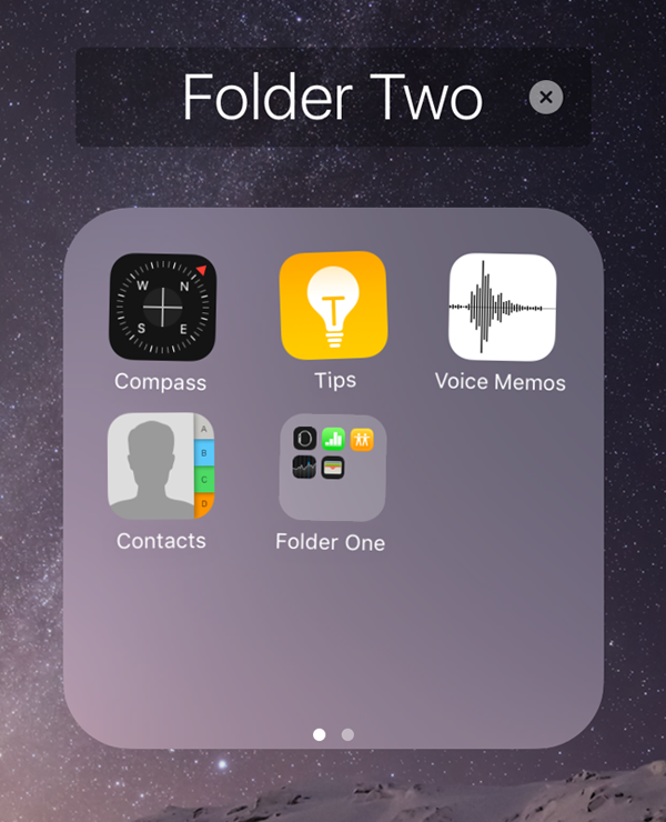 hidden folder iphone how to nest folders on the ios home screen the iphone faq 6990