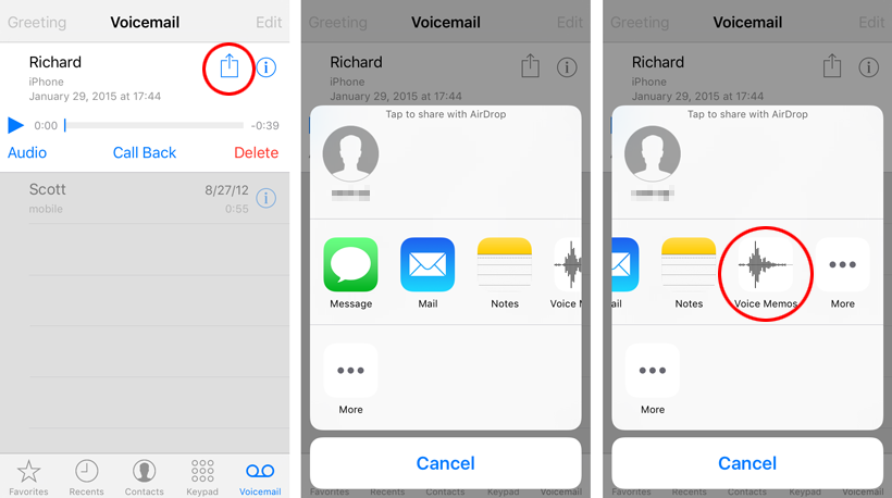 How to leave a voicemail message on iphone 8