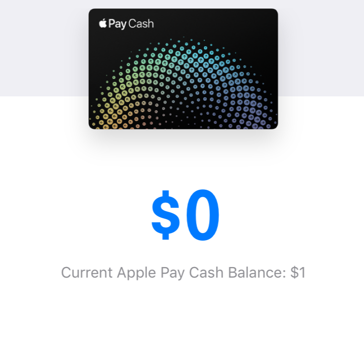 Apple Pay Cash Balance