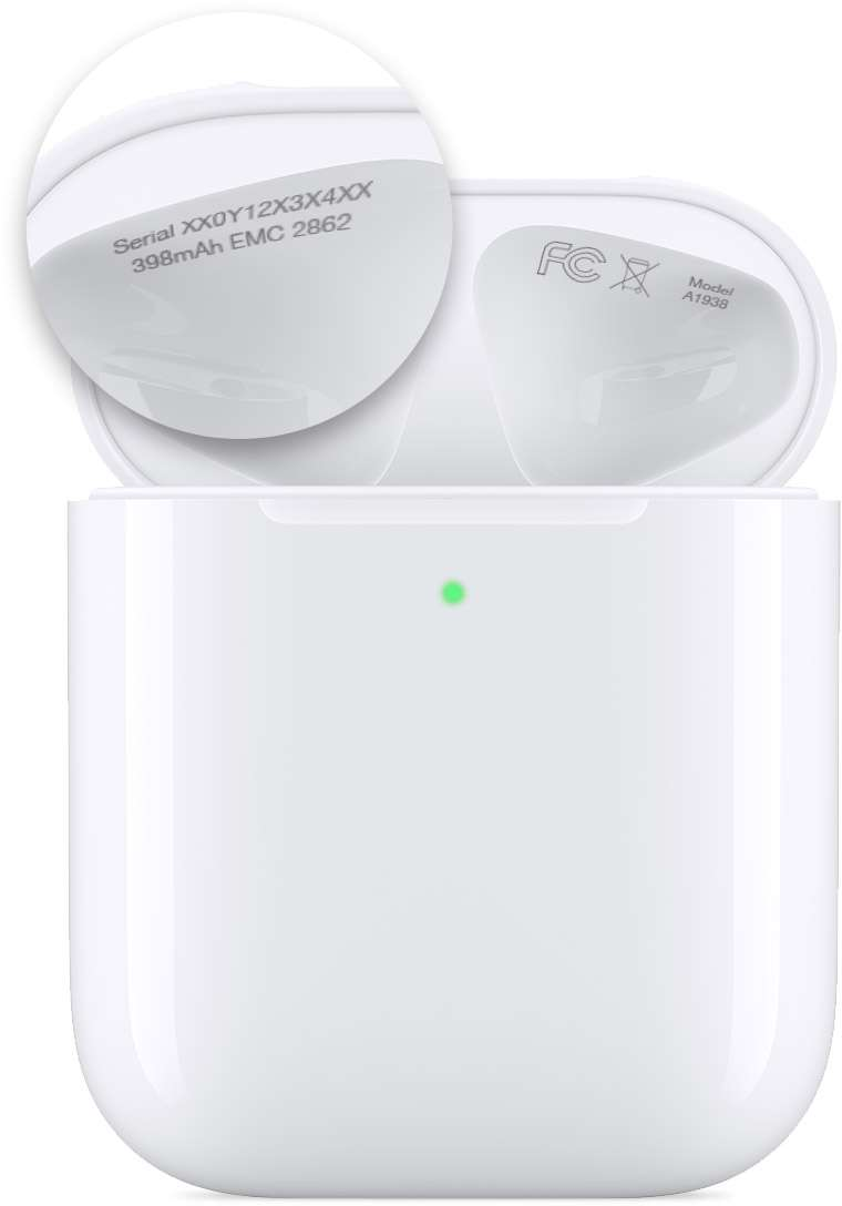 AirPods charging case serial number
