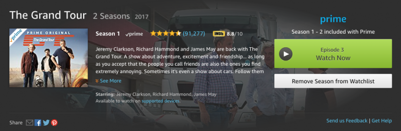 Amazon Prime Video Grand Tour