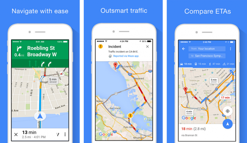 google maps traffic estimator app
