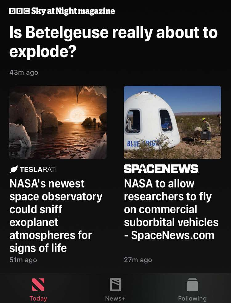 Apple News open story in Safari