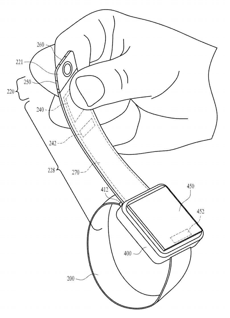 Apple Watch camera band patent