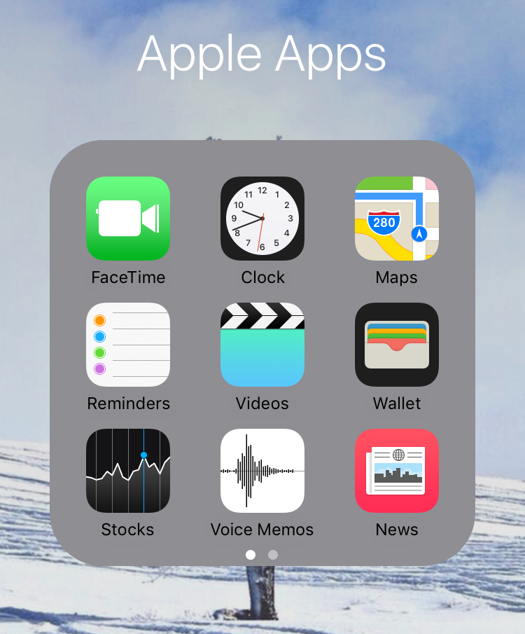 How to get rid of apple apps on iphone