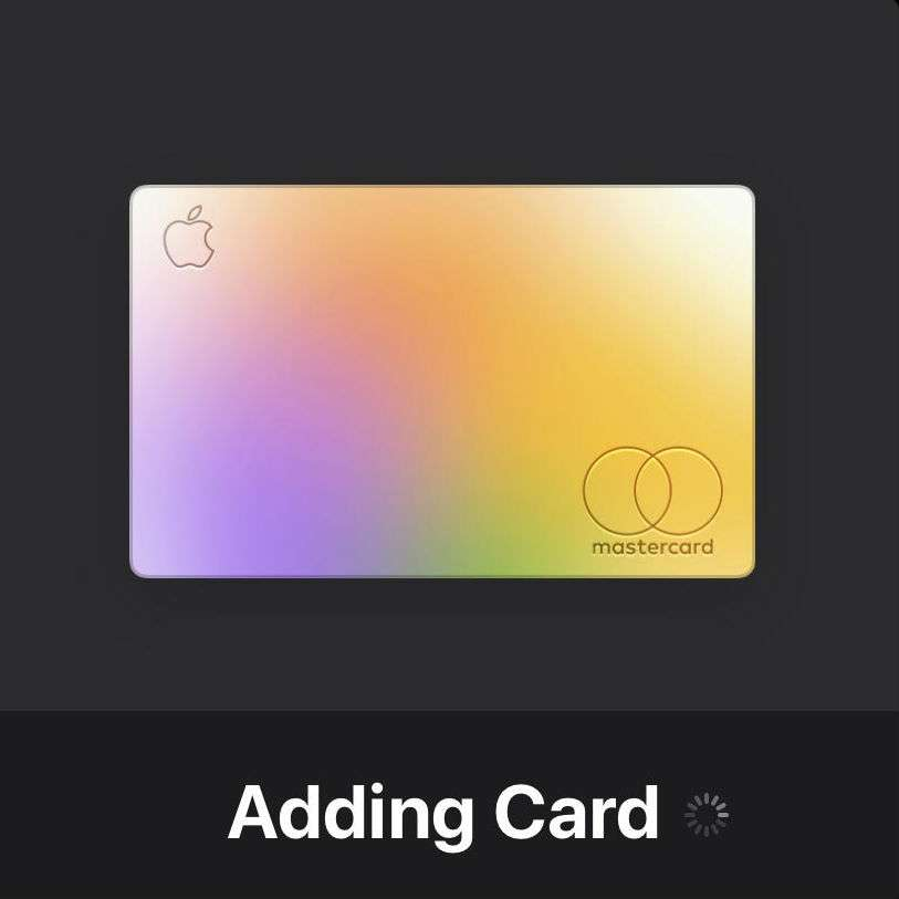 Add Apple Card