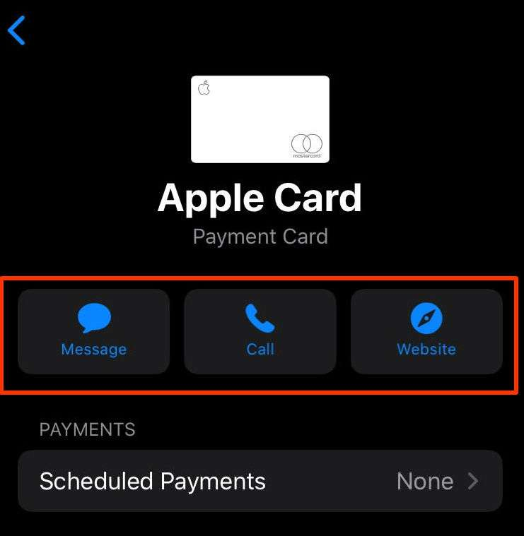 Apple Card Support Options