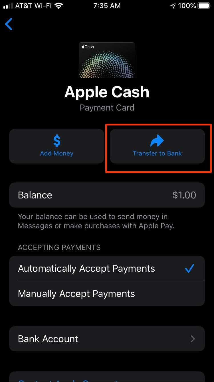 How do I transfer my Apple Pay Cash balance to my bank account? | The  iPhone FAQ