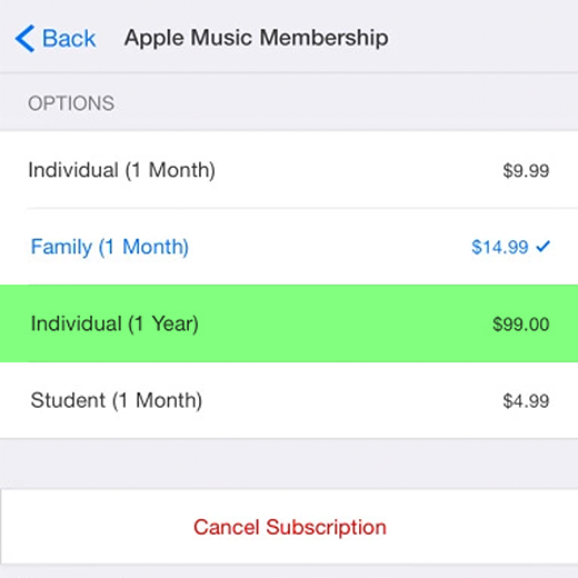 Apple Music $99
