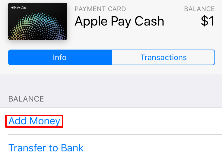 Apple Pay Cash Add Money
