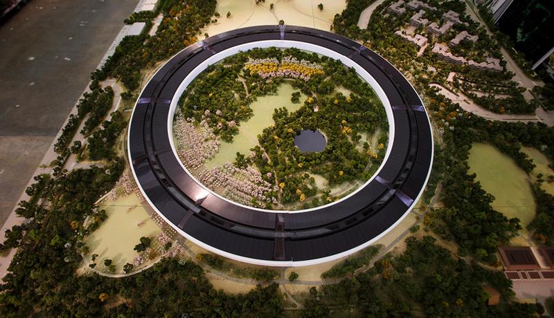 Apple campus model