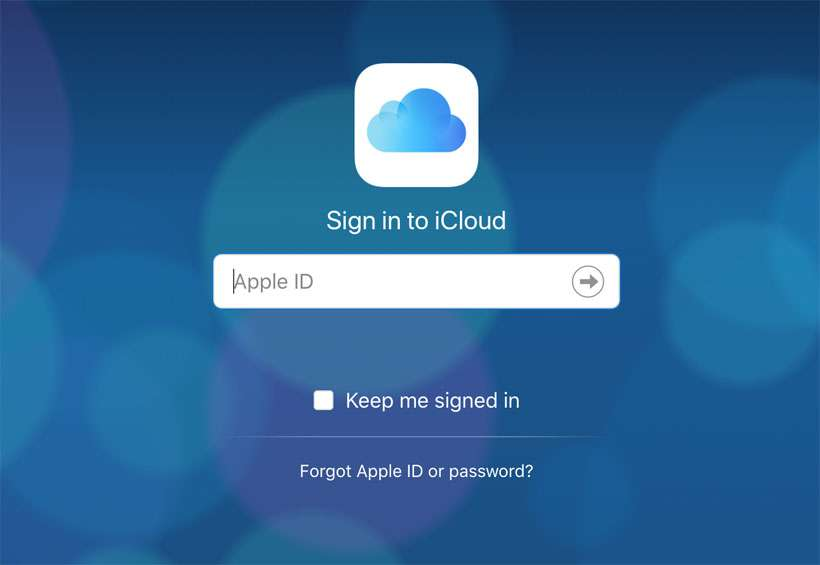 Apple ID sign in iCloud