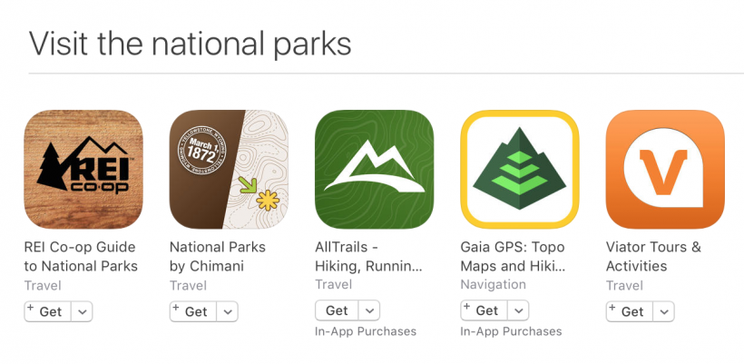 National Parks apps