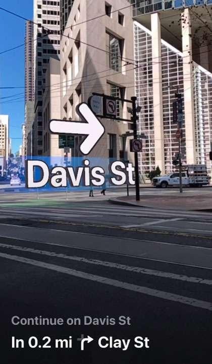 Apple Maps walking directions AR