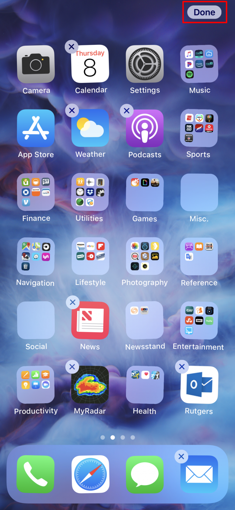 How to stop app icons from wiggling after arranging them on iPhone X.