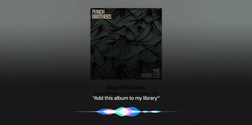 Apple TV Siri music
