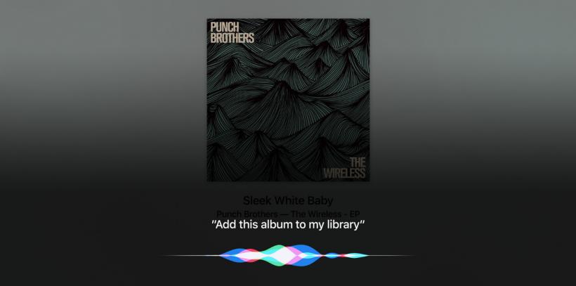 Apple TV Siri music