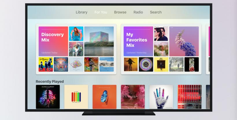 Apple TV updates Music