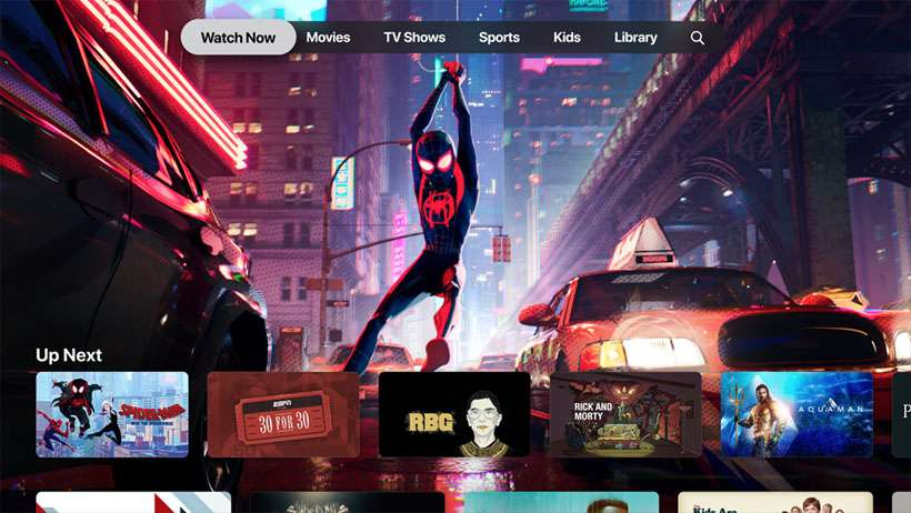 Apple TV auto-play video preview