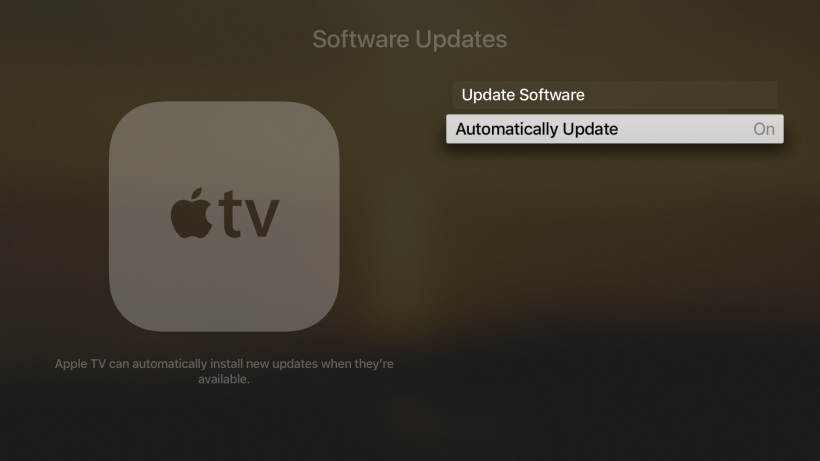 Disable auto system updates tvOS