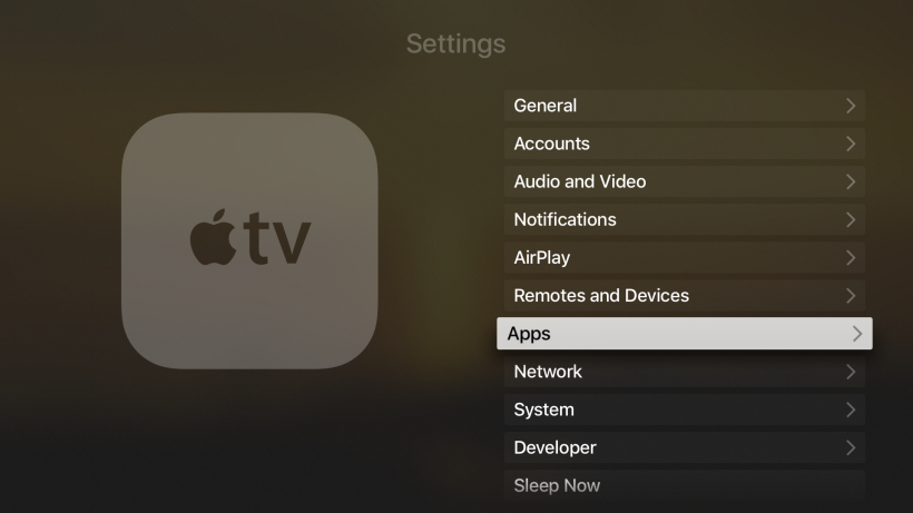 Stop auto app updates Apple TV