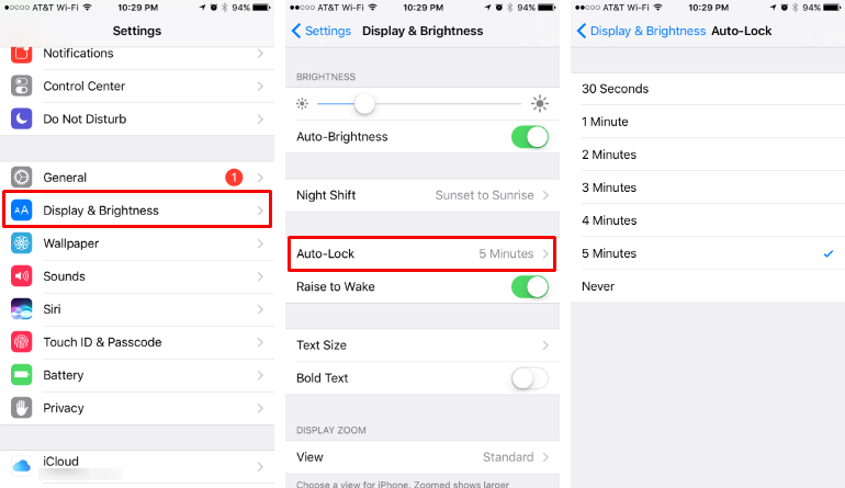 How to change the time it takes for your iPhone to sleep/lock.