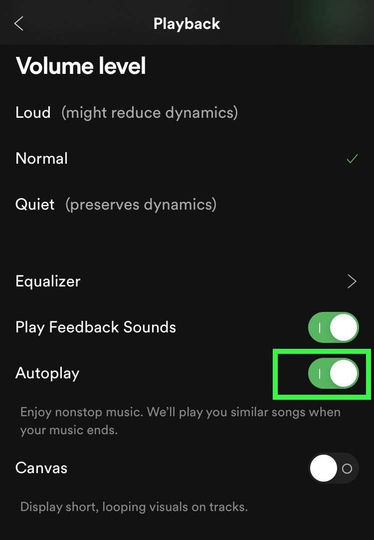 Turn off Spotify autoplay