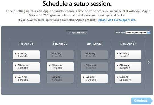 Apple offers online setup sessions for Apple Watch.