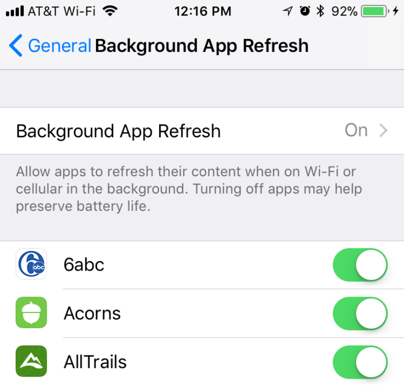 How to manage background app refresh on iPhone and iPad.