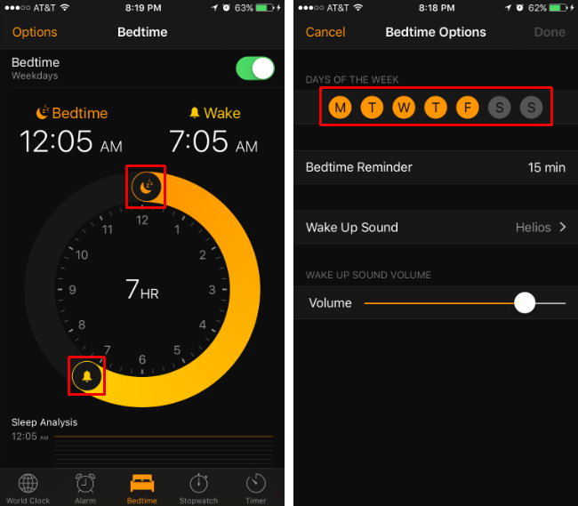 How to use the Bedtime feature in iOS 10.